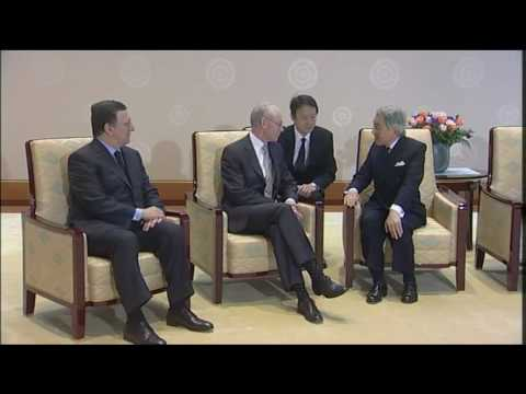 Van Rompuy visits AKIHITO, Emperor of Japan