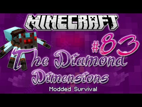 the Diamond Spider | Diamond Dimensions Modded Survival #83 | Minecraft video