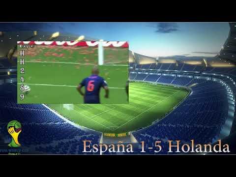 España es humillada ante Holanda tras perder 5 a 1 - Spain vs Holland World Cup Brasil 2014