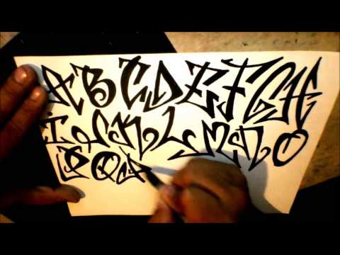graffiti alphabet - tagging style - YouTube