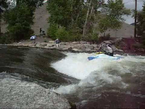 2010 Jackson Kayak All Star - Eric Jackson and Nick Troutman at the Salida Hole- Coloradokayak.com