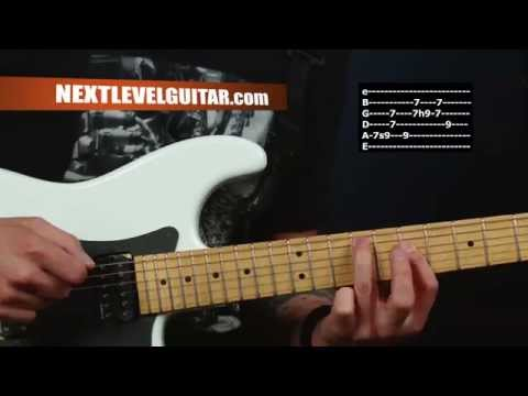 Electric Guitar lesson classic Journey inspired chords picking melody create songs Lights style