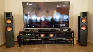 My klipsch system and polk audio