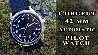 Corgeut 42 mm pilot automatic watch | Miyota 821A+Sapphire+Stainless steel #188 review