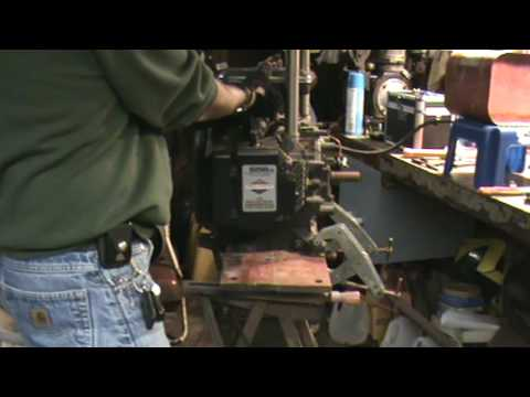 Horizontal Briggs and Stratton 656CC 16hp opposed twin lives!