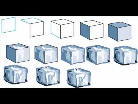Ice Cubes Drawing How to Draw an Ice Cube Easy