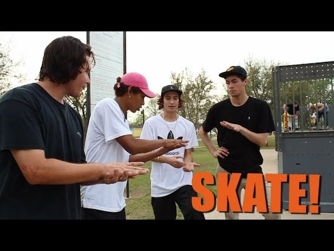 SKATE Nick VS Mikey VS Rick VS Matt Round Rail