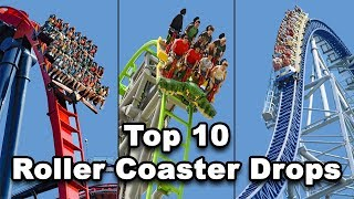 Top 10 Best Roller Coaster Drops With POV's 2018!!!