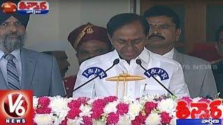 KCR Takes Oath As Telangana CM For Second Time | Teenmaar News