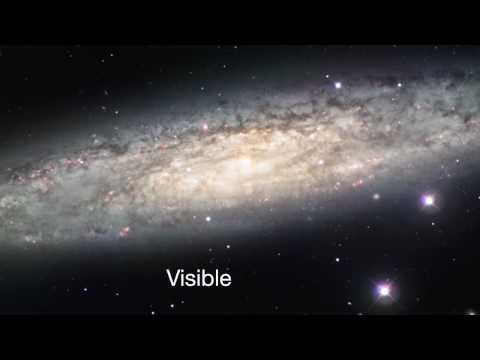 IR/Visible Crossfade Of The Sculptor Galaxy (NGC 253) [720p] Video