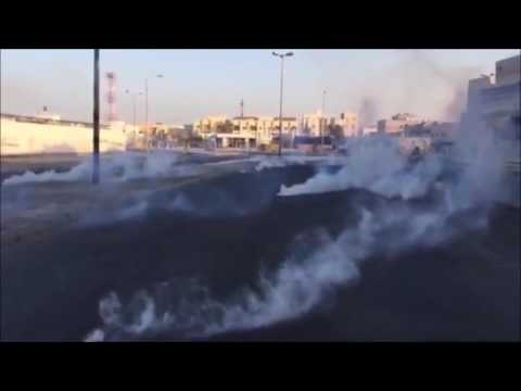 Bahrain : Riot Police Attack Demonstration Targeting The Shia With Multiple Tear Gases
