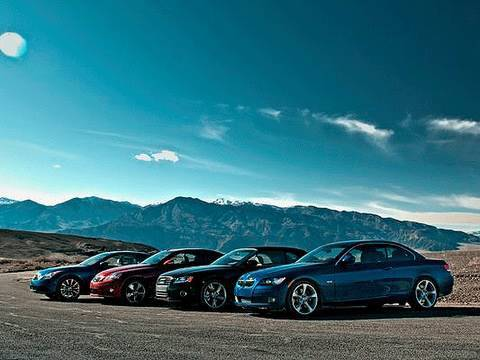 Topless Drag Race! Audi vs BMW vs Infiniti vs Lexus