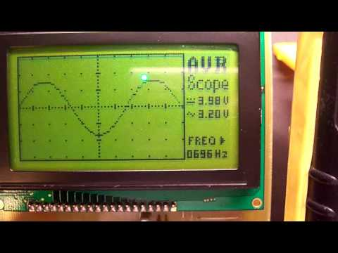 AVR oscilloscope v2.00 Video 2
