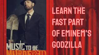 Learn Eminem's Fast Part on Godzilla (Slowed Down + Scrolling Lyrics)