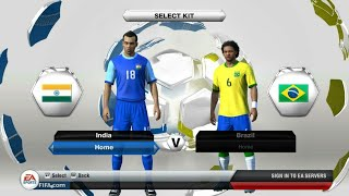 Fifa 14 ultimate team INDIA V/S BRAZIL Penalty Android gameplay #1