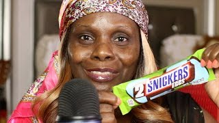 Trying Snickers Eggs ASMR Eating Sounds