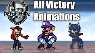 Super Smash Bros Crusade v0.9.1 - All Victory Animations & Themes