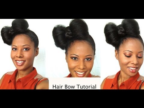 Super Easy Hair Bow Tutorial (protective Styling) | How To Make & Do ...