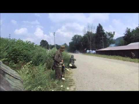 Tidioute WW2 Reenactment: Remagen Bridge - 2012 - Helmet Cam Part 1.