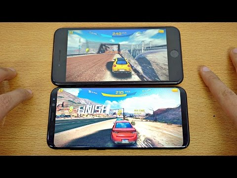 Samsung Galaxy S8 Plus Vs IPhone 7 Plus - Gaming Comparison! (4K)