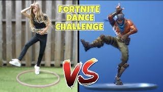 FORTNITE DANCE CHALLENGE (2018) !! - Broer en Zus TV VLOG #198