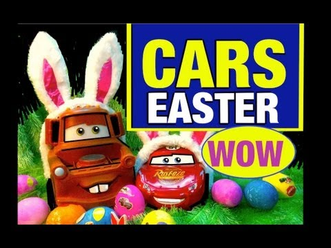 Cars Toys Easter Egg Baskets Eggs Surprises! Cars 2 Toy Review Mike Mozart TheToyChannel Easters Fun