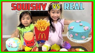 SQUISHY FOOD vs REAL FOOD CHALLENGE! BEST SQUISHY vs GROSS FOOD? (FunTV)