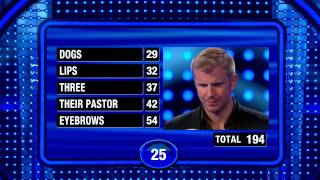 Incredible Fast Money Round on Celebrity Family Feud