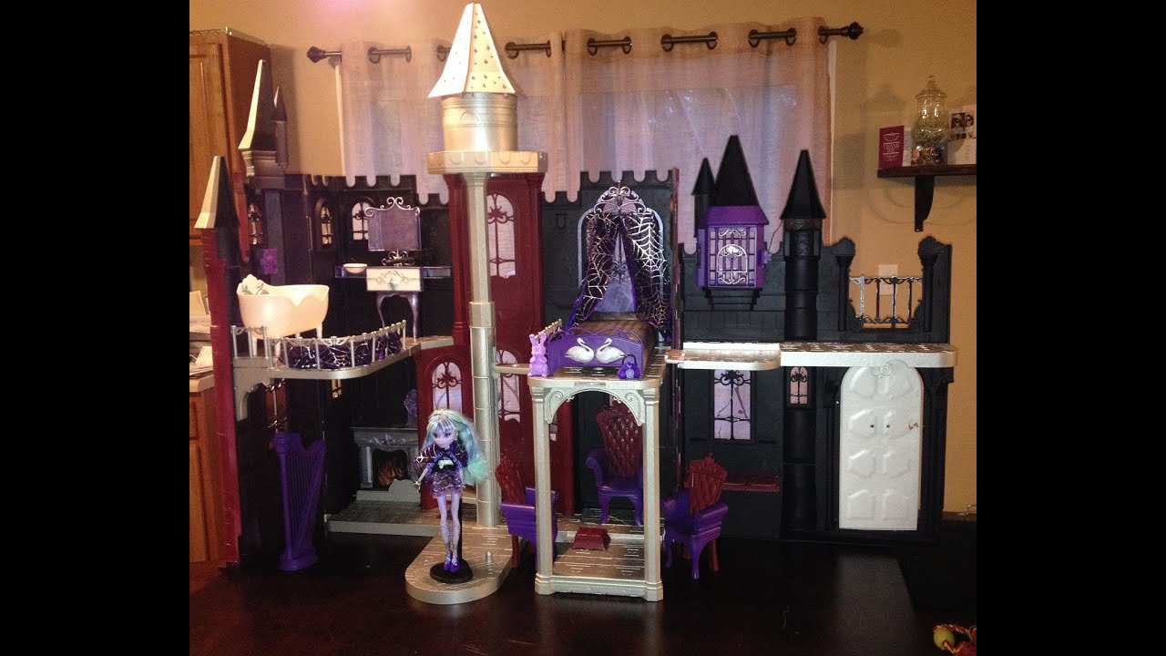 Monster High Ebay >> How to Make a Monster High Castle from a Barbie Castle - YouTube