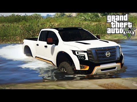 NISSAN TITAN WARRIOR MUDDING & 4x4 OFF-ROADING! Test & Review! (GTA 5 PC Mods)