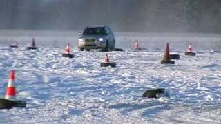 Subaru Forester on winter slalom 1