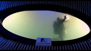 Submerged window underwater inspection