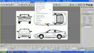3DS max tutorial Setting up blueprints Part 1/2 2014 HD
