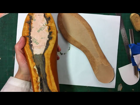 How to make shoes: Making Flat Peep Toe Women Shoes- Part 2