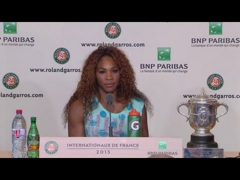 Serena Williams Complete Interview after French Open Final 2013 Win Over Maria Sharapova