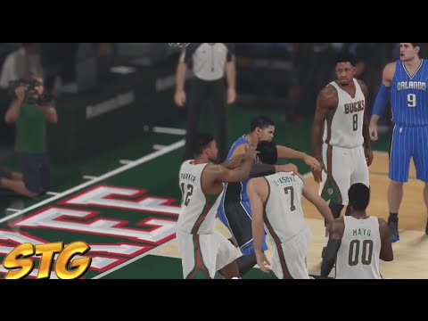 NBA 2k15 PS4 HD Gameplay - Milwaukee Bucks vs Orlando Magic! Ft. Jabari Parker!