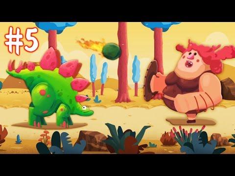 ДИНОЗАВРЫ ПРОТИВ ЛЮДЕЙ [5] Игровой мультик про динозавров для детей Игровое видео по игре Dino Bash