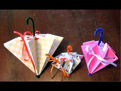 How To Fold An Umbrella For A Wedding Or Baby Shower Or Mother's Day Card video