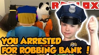 YOU ARRESTED FOR BANK ROBBERY ! | JAILBREAK BEST PRISON GAME in ROBLOX !