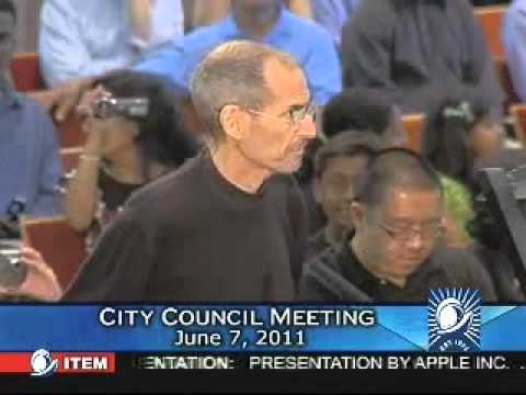 Steve Jobs Last TV Appearance at the Cupertino City Council (6/7/11)