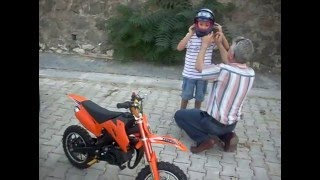 Pocket bike surprise for 8 years old boy :) - 8 yaşındaki kardeşime motosiklet sürprizi
