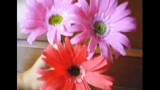 How to make Paper Flowers Gerbera Daisy (Flower # 28)