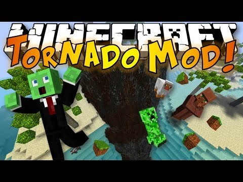 Minecraft: TORNADO MOD - Tornadoes, Huge Waves & Extreme Weather (Weather and Tornadoes Mod)