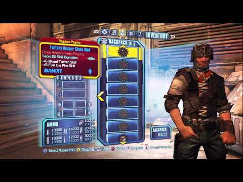 Borderlands 2 All Psycho Krieg Class Mods!