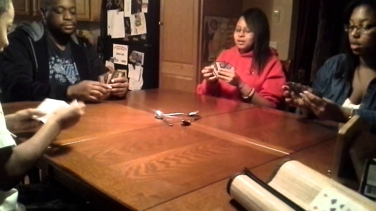 Spoons Game Card Spoons Card Game Violent