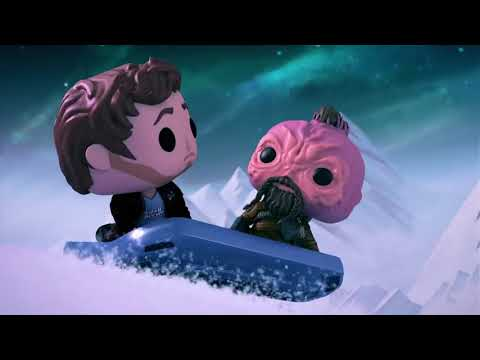 Marvel Funko Presents  Cosmic Sleigh Ride Starring Star Lord, Baby Groot, & Taserface