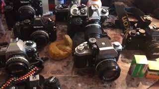 Nikon collection, vintage camera collection