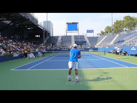 Andy Roddick / Somdev Devvarman 2013 Last Warmup Before Retirement 2012  2 / 10