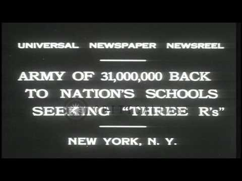 Children return to the schools after the vacations end in New York, United States...HD Stock Footage