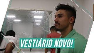 A reação do elenco com o novo vestiário do Palmeiras